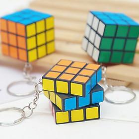 Móc Khóa Rubik 3x3 Xoay Được Khối Lập  Phương Rubik 3 Tầng ( giao hàng ngẫu nhiên)
