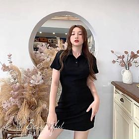 váy suông cộc tay cổ đức 3 màu chất cotton co dãn