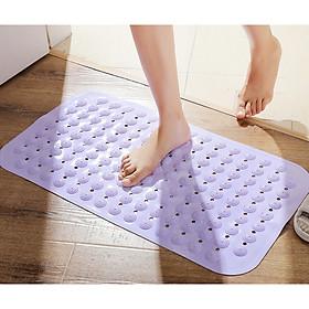 Miếng thảm lót chân chất liệu nhựa déo PVC dùng cho nhà tắm, nhà vệ sinh, chống trơn trượt , có nút massage giúp máu huyết lưu thông - màu giao ngẫu nhiên