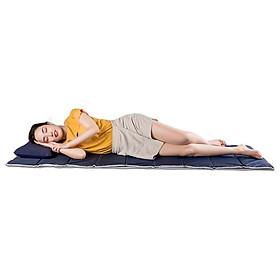 Nệm Ngủ Trưa Văn Phòng   - 100% vải coton thoáng mát, mềm mại, thấm hút mồ hôi. Giặt được bằng máy. Dể gấp gọn - Có túi đựng riêng.
