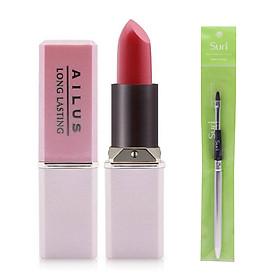Son Lì Mịn Môi Lâu Trôi Nhật Bản Naris Cosmetic Ailus Smooth Lipstick Long Lasting + Tặng Ngay Cọ Kẻ Môi Hàn Quốc Thông Minh Thế Hệ Mới Suri Lip Brush – Hàng Chính Hãng