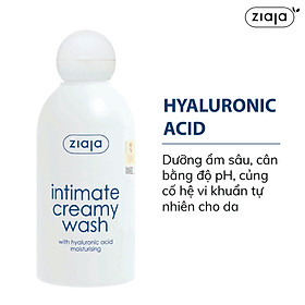 Dung dịch vệ sinh phụ nữ Intimate dạng kem with Hyaluronic Acid