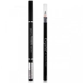 Combo Chì kẻ mí mắt màu đen Crystal Eyeliner Pencil - Chì kẻ chân mày không lem Crystal Auto Eyebrow Pencil (nhiều màu)