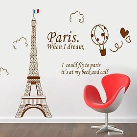 Decal trang trí dán tường nghệ thuật tháp Eiffel AY9132B