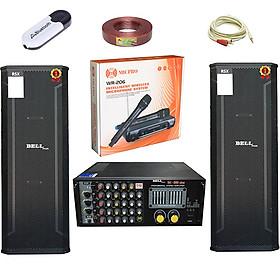 Bộ dàn âm thanh karaoke gia đình Full đôi 3 tấc PRO - 7200 BellPlus (hàng chính hãng)