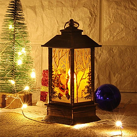 LED Christmas Pattern Candle Light Tea Light Night Lamp for Christmas Home Table Decoration