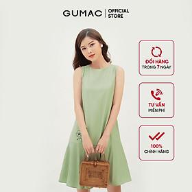 Đầm suông nữ sát nách GUMAC DB324