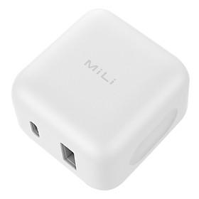 Adapter Sạc 2 Cổng USB và USB Type-C MiLi Speed Charger Tích Hợp Sạc Nhanh Chuẩn QC 3.0 HC-H18 - Hàng Chính Hãng