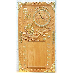 Tranh gỗ đốc lịch đồng hồ Cha Mẹ - TG246-259