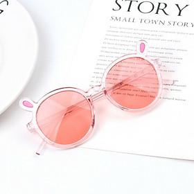 Mắt kính râm chống tia UV cho bé trai và bé gái hình tai thỏ, an toàn bảo vệ mắt, chọn màu theo ý+ Tặng kèm hộp đựng kính cao cấp