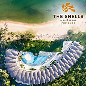 Gói 4N3Đ The Shells Resort & Spa 5* Phú Quốc - Buffet Sáng, Hồ Bơi, Bãi Biển Riêng, Đón Tiễn Sân Bay, Dành Cho 02 Người Lớn, Giải Thưởng Khách Sạn Thiết Kế Kiến Trúc Đẹp