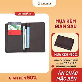 Ví Bóp Nam Nữ Nhỏ Gọn Nhiều Ngăn Để Thẻ CMND Galaxy Store GVMB02B -  Nâu (8 x 12 cm)