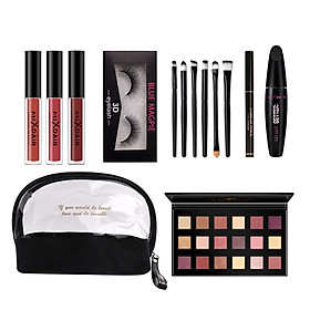 Professional Makeup Set Lip Glaze Eye Shadow Mascara Eyebrow Pencil Home-use Base Makeup Kit