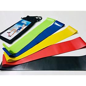 Set 5 dây kháng lực miniband + tặng kèm túi và hướng dẫn (mini band)