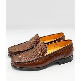 Giày Tây nam da bò họa tiết vân cá sấu - 6VTU030 - SMG Shoes
