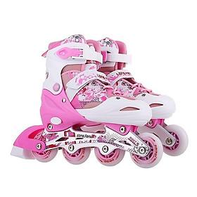 Giày Trượt Patin Trẻ Em Longfeng Hồng