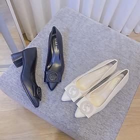 Giày cao gót đế vuông Y.S.L - GC003