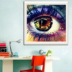5D DIY Diamond Painting Full Square Round Drill Colored Eyes Diamond