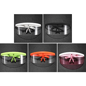 5 Pieces Unisex Fashion Shield Sunglasses Goggles Anti-UV HD Lens Glasses