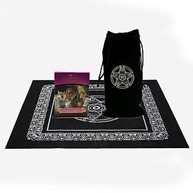 Bộ Bài Bói Tarot Romance Angels Oracle Cards Cao Cấp và Túi Nhung Đựng Tarot và Khăn Trải Bàn Tarot