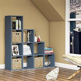 Tủ Sách Gỗ Bậc Thang Lớn SIB Decor Cho Phòng Khách, Phòng Làm Việc, Kích Thước 123.6 x 120 x 30cm