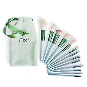Bộ 13 Cọ Trang Điểm Chuyên Nghiệp FIX Shoptido Có Kèm Túi Vải