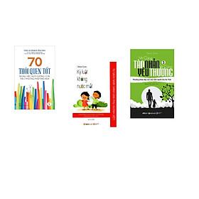 Combo 3 cuốn sách: 70 Thói Quen Tốt - Trong Việc Dưỡng Con Theo Phương Pháp Shichida + Kỷ Luật Không Nước Mắt  + Vô Cùng Tàn Nhẫn Vô Cùng Yêu Thương Tập 3