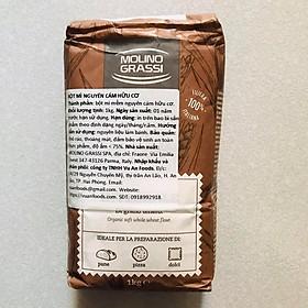 Bột Mì Nguyên Cám Hữu Cơ Grassi 1kg