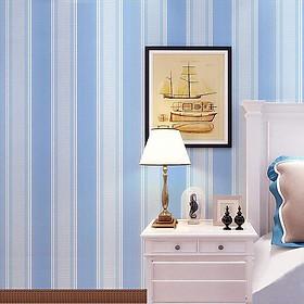Giấy dán tường Sọc trắng xanh WP0050