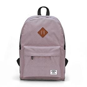 Men Women Casual Backpack Solid Color Canvas School Bag for School Travel