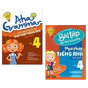 Combo Aha Grammar: Học Nhanh Toàn Diện Ngữ Pháp + Bài Tập Bổ Trợ Toàn Diện Ngữ Pháp Tiếng Anh Lớp 4 Theo Chủ Đề (Bộ Sách Ngữ Pháp Bán Chạy Nhất Tại Hàn Quốc Cho Học Sinh Tiểu Học/ Tặng Kèm Bookmark Happy Life)