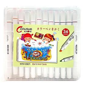 Bút Lông Màu 36 Màu 2 Đầu 0901