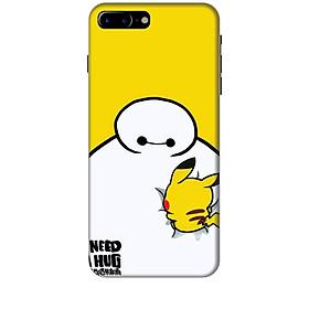 Ốp lưng dành cho điện thoại IPHONE 8 PLUS hinh Big Hero Pikachu