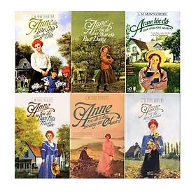 Combo Anne Tóc Đỏ Dưới Mái Nhà Bạch Dương (Tái Bản 2019) + Anne Tóc Đỏ Dưới Chái Nhà Xanh (Tái Bản 2017) + Anne Dưới Mái Nhà Bên Ánh Lửa (Tái Bản) +  Anne Tóc Đỏ và Ngôi Nhà Mơ Ước ( Tái Bản ) + Anne Tóc Đỏ Làng Avonlea (Tái Bản) + Anne Tóc Đỏ Ở Đảo Hoàng Tử Edward (Tái Bản 2018) - Tặng kèm sổ tay và 1 bookmark ML,1 móc khóa ML