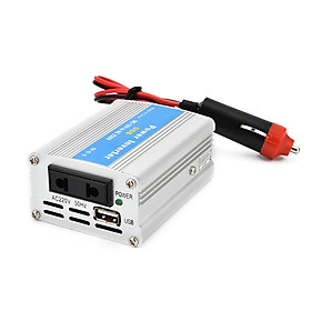 Portable Car Power Inverter 100W DC 12V to AC 220V Charger Converter Transformer with Charging USB Ports and Oulets