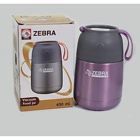 Bình ủ cháo giữ nhiệt zebra Thái Lan 450ml 123005-inox 304