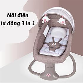 [CAM KẾT HÀNG LOẠI 1]  Ghế nôi rung điện cho bé sơ sinh cao cấp giúp bé ngủ ngoan Kết nối bluetooth  Điều khiển từ xa
