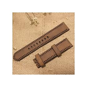 Dây Đồng Hồ Da bò sáp tặng khóa + chốt tháo