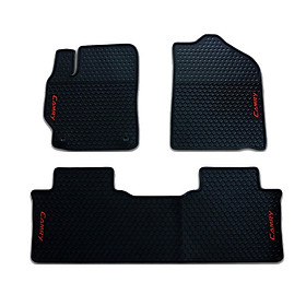 Thảm sàn, lót sàn cao su 3D không mùi Cao cấp dành cho xe Toyota Camry 2012-2018