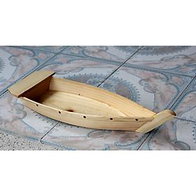 Khay Thuyền Gỗ 55cm trang trí lẩu, hải sản và thực phẩm tươi sống
