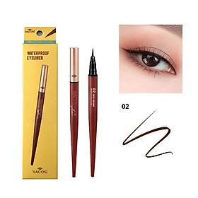 Bút Kẻ Mắt Nước Vacosi Natural Studio Waterproof Eyeliner #02 deep brown