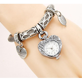 Heart Shape Female Bracelet Watch Quartz Watches Wristwatch Gift Gold/Silver