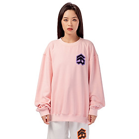 Áo Sweater 5THEWAY Tay Dài Hồng aka /stroke/ BIG LOGO SQUARE SWEATER in CRYSTAL ROSE