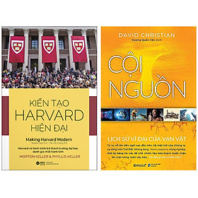 Combo Sách : Kiến Tạo Harvard Hiện Đại + Cội Nguồn - Lịch Sử Vĩ Đại Về Vạn Vật