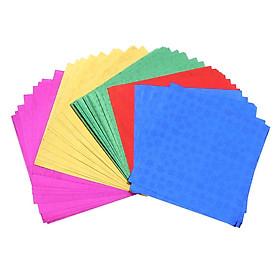 Colorful Folding Hologram Origami Paper for Kids DIY Craft 50pcs 15x15cm