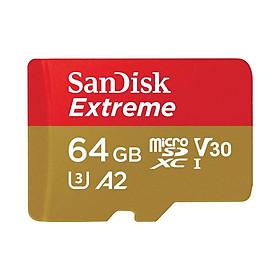 Thẻ Nhớ MicroSDXC SanDisk Extreme V30 A2 160MB/s 64GB - Hàng Nhập Khẩu