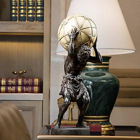 Tượng Hy Lạp thần atlas nâng địa cầu cao 42cm