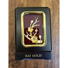Tranh để bàn dát vàng 24K  Mai Lan Cúc Trúc- KaiGold