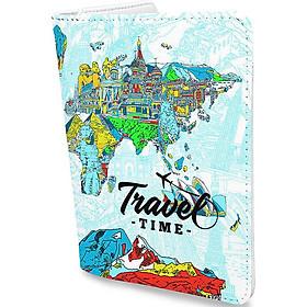 Bao Da Hộ Chiếu TRAVEL MORE - Ví Đựng Passport Du Lịch Thời Trang - PPAT0078