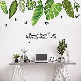 Decal dán tường Grean Leaves Art XL8362